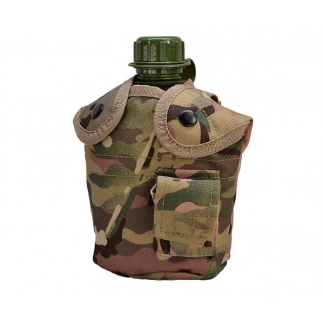 Canteen US with cover Multicam
