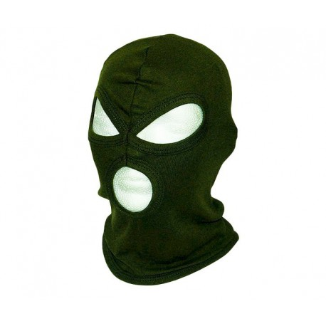 BALACLAVA 3-HOLE COTTON OLIVE