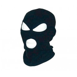 BALACLAVA 3-HOLE COTTON BLACK