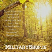 """""""Is not this a true autumn day? Just the still melancholy that I love - that makes life and nature harmonise.""""- George Eliotwww.militaryshop.ie#survival #bushcraft #trip #trekking #outdoor #airsoft #army #military #hiking #armyshop #ireland #adventure #fishing #camping #gear #tactical #tacticalgear #mountains #walk #nature #forest #woodland #autumn"""