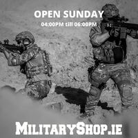 If you come on-site, please let us know by e-mail or messenger (we need to open the gate). We accept payments in cash and by credit / debit card. Our localization: https://goo.gl/maps/maXHL799DNH2www.militaryshop.ie@militaryshop.ie @patrolxshop#survival #bushcraft #trip #trekking #ireland #boots #backpack #outdoor #texar #airsoft #army #military #hiking #armyshop