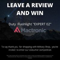 "Last chance to win:To say thank you for shopping with Military Shop, you're invited to enter our customer competition:LEAVE A REVIEW AND WIN: Mactronic Duty Flashlight ""EXPERT 02""https://militaryshop.ie/flashlights/266-mactronic-battery-duty-flashlight-200-lm-expert-02.htmlHow to leave a review: 1. Sign In or Create an Account at MilitaryShop.ie 2. Choose your product 3. Select a star rating for the product 4. Write a reviewT&Cs: Closes 10th May 2020 at 21.00 Winner will be chosen at random and notified by Facebook message and e-mail. Ireland entrants only. This promotion is in no way sponsored, endorsed or administered by, or associated with, Facebook.#staysafe #survival #bushcraft #trip #trekking #outdoor #texar #airsoft #army #military #hiking #armyshop #ireland #adventure #mactronic #flashlight #expert #prize #competition"